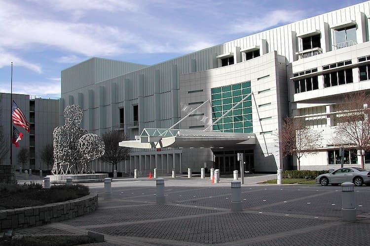Exterior of Woodruff Arts Center, home of the Atlanta Symphony