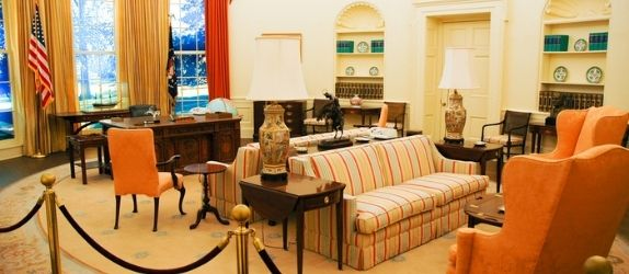 oval office replica at the jimmy carter center in atlanta
